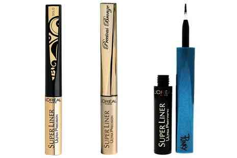 Groupon Goods Global GmbH - Three Loreal Super Liner Ultra Precision Eyeliners - Save 71%