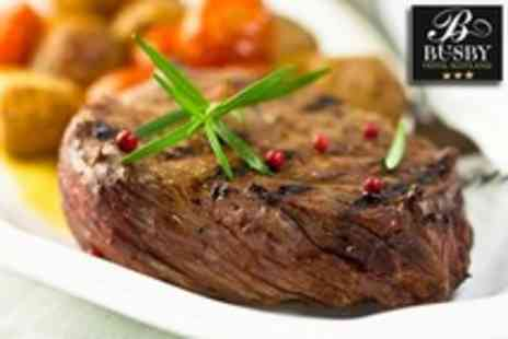 The Busby Hotel - Two Course Sirloin or Rib Eye Steak Dinner For Two With Wine - Save 62%