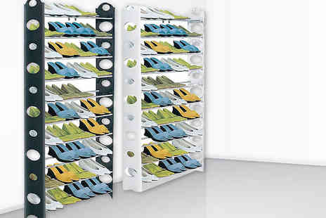 HTG Direct - 50 pair giant shoe rack - Save 44%