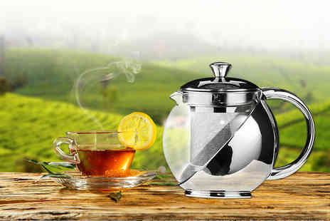 Snap One Up - 500ml or 750ml stainless steel and glass tea infuser teapot - Save 78%