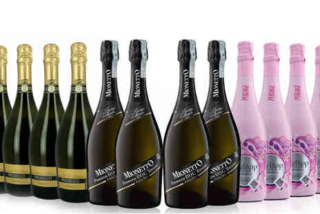 San Jamon - 12 x Bottles of Award Winning Organic Prosecco - Save 48%