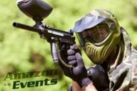 Amazon Outdoor Events - Paintballing Experience And BBQ Lunch For Ten With 100 Paintballs Each - Save 91%