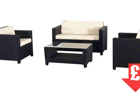 EVRE - Clearance Roma Rattan Black Set - Save 79%