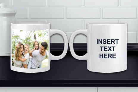 Fab Deco - Personalised photo & text mug - Save 67%