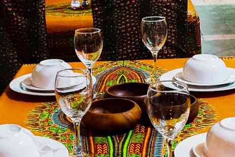 Divine African & Caribbean Restaurant - Two Course Afro Caribbean Meal for Two or Four - Save 56%