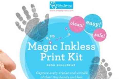 Smallprint - Capture every crease and wrinkle of your childs tiny fingers & toes with Smallprints Magic Inkless Print Kit for just £5.99 instead of £11.99! - Save 50%