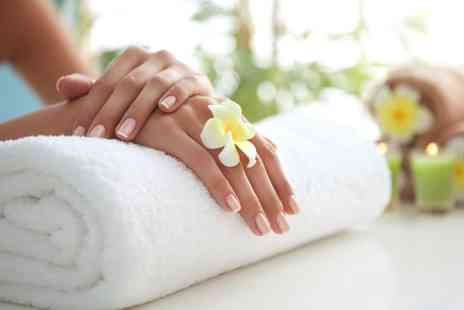 Skin Hand Tonic - Gel Manicure, Pedicure or Both with Optional Back, Neck and Shoulder Massage - Save 55%