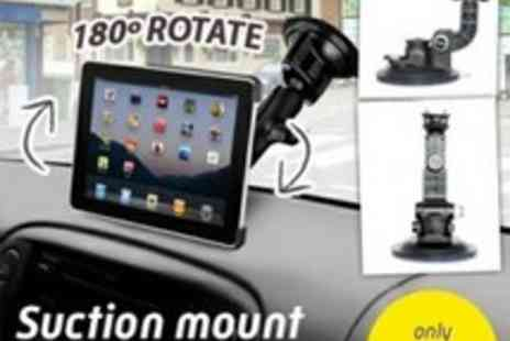 Led Hut - Rotating Suction Mount For iPad & Tablet - Save 60%