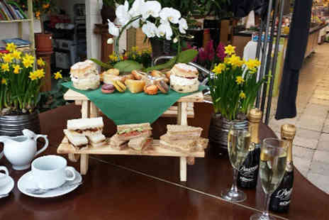 High Trees Garden Centre - Picnic afternoon tea for two or include a small bottle of Prosecco each - Save 36%