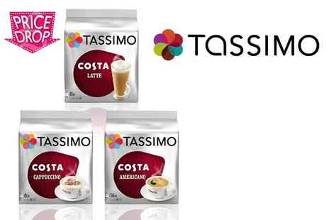 Eurovista2010 - Variety pack of 48 Tassimo Costa coffee discs get lattes, cappuccinos and Americanos - Save 69%