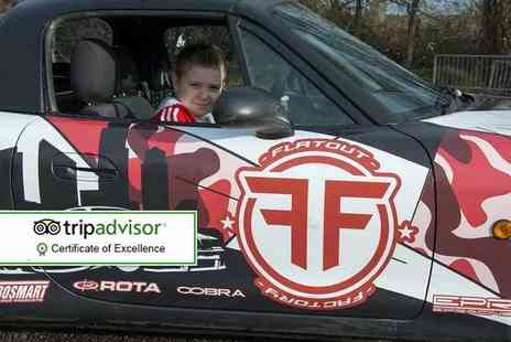 Flatout Factory - Kids drifting experience with VIP pass for one, two or four - Save 55%