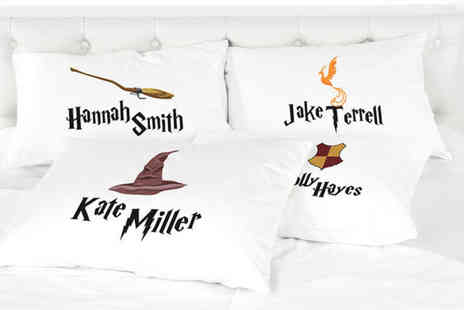 Shop Sharks - Personalised kids Harry Potter inspired pillowcase - Save 71%