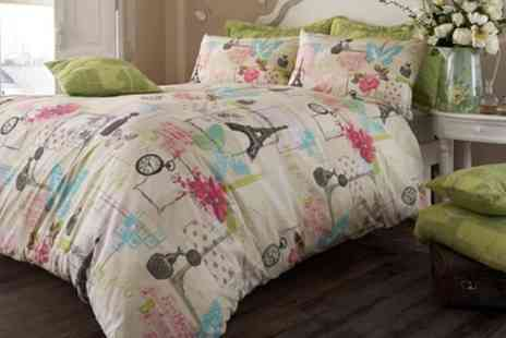 Groupon Goods Global GmbH - Parisian Duvet Cover Set in Choice of Style - Save 69%