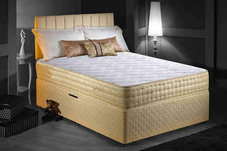 The Sleep People - Single luxury memory foam gold mattress, small double, double or king - Save 89%
