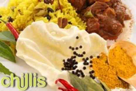 Chillis - Indian Takeaway Banquet For Four With Poppadoms and Naan - Save 65%