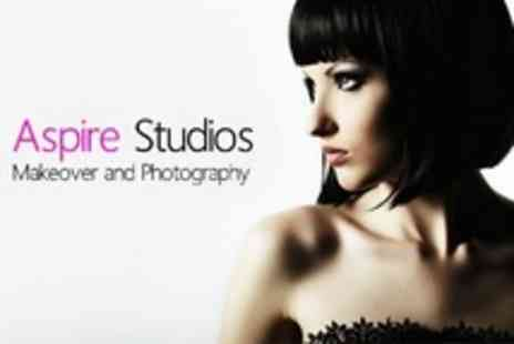 Aspire Studios - Makeover Photo Shoot With Airbrushed Prints For Two People - Save 96%