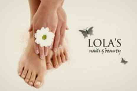 Lolas Nails and Beauty - Shellac or Minx Manicure and Minx Pedicure - Save 60%