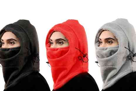 Groupon Goods Global GmbH - Eight in One Heavy Weight Adjustable Fleece Cover Up Hoods - Save 60%