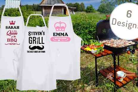 Deco Matters - Personalised Barbecue Apron in 6 Designs - Save 60%