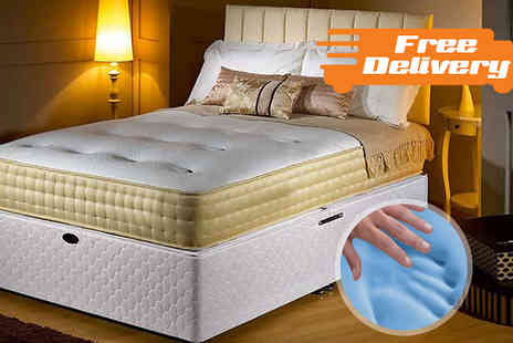 The Sleep People - Royal Gold Memory Foam Bio Natural Mattress plus Free Delivery - Save 89%