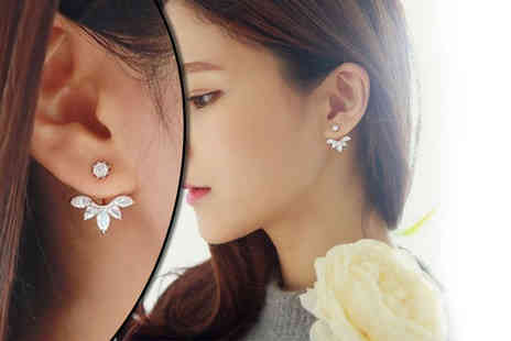 My Boutique Store - Pair of double crystal stud earrings - Save 91%