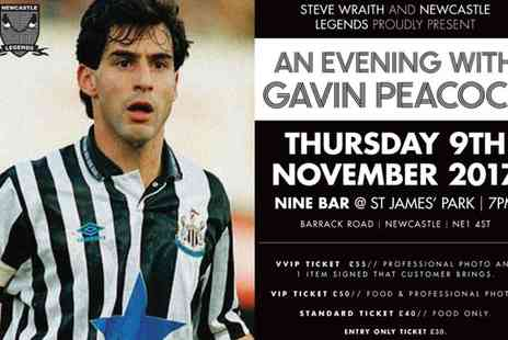 Newcastle Legends - An Evening with Gavin Peacock on 9 October 2017 - Save 30%
