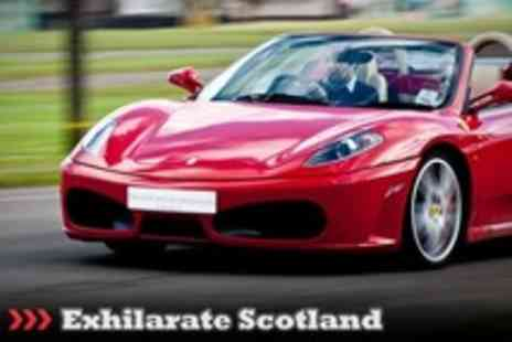 Exhilarate Scotland - Nine Laps Driving in choice of Ferrari, Lamborghini and Aston Martin Plus Hot Laps - Save 63%