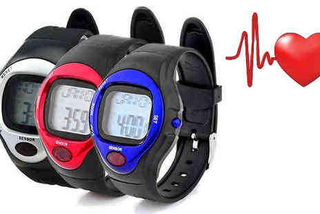 121 Mart - Pulse Sports Watch with Heart Rate Monitor Available in 3 Colours - Save 85%