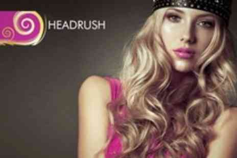 HEADRUSH - Cut With Curly Blow Dry Plus Intensive Hair Mask and Massage - Save 55%