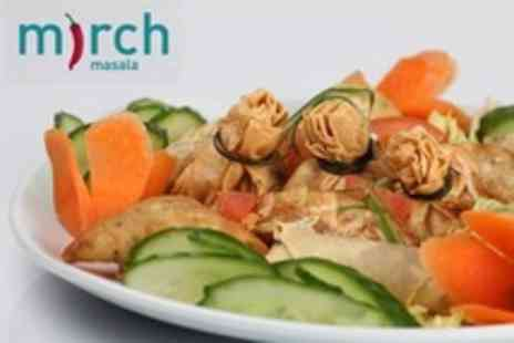 Mirch Masala - Three Courses of International Vegetarian Cuisine Plus Rice or Naan Each For Four - Save 74%