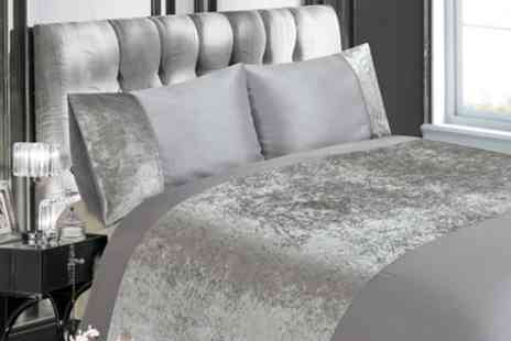 Groupon Goods Global GmbH - Decadent Velvet Finish Duvet Set - Save 64%