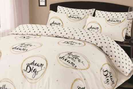 Groupon Goods Global GmbH - Dreamscene Follow Your Dreams Reversible Duvet Set - Save 72%