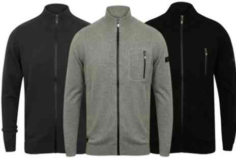 Groupon Goods Global GmbH - Mens Dissident Funnel Neck Zip Up Cardigan in Choice of Colour - Save 0%