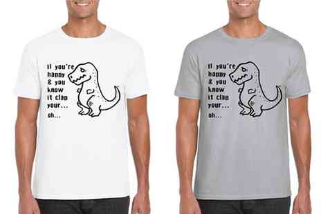 Groupon Goods Global GmbH - Mens Mareno Novelty T Rex Tee in Choice of Colour - Save 0%
