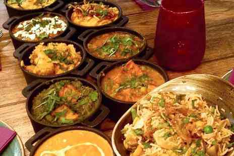 Ushas Indian Street Food - Three or Six Street Food Curry Dishes with Rice and Naan to Share - Save 58%