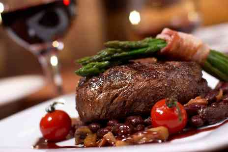 Reeds Restaurant - Sirloin Steak Meal with a Glass of Wine for Two or Four - Save 45%