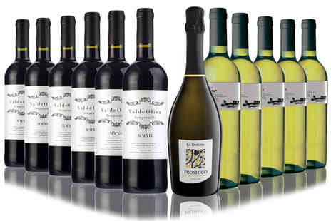 San Jamon - Black or White plus Prosecco in 12 Bottles - Save 41%