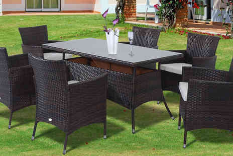 Mhstar - Rattan Garden Furniture Dining Set - Save 28%