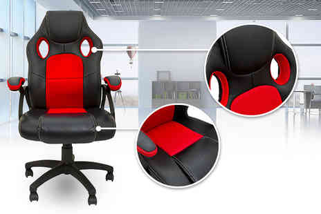 Homefresco - Luxury reclining swivel chair with superior leather finish - Save 67%