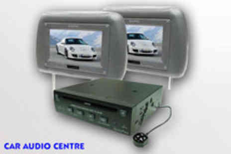 Car Audio Centre - Two 7 colour screen headrests & in car DVD player - Save 34%
