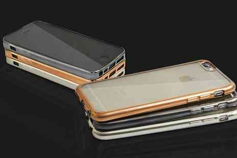 Groupon Goods Global GmbH - Tpu Clear Case with Metal Look for iPhone - Save 67%