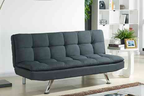 Groupon Goods Global GmbH - Fabric Sofa Bed in Choice of Colours With Free Delivery - Save 50%