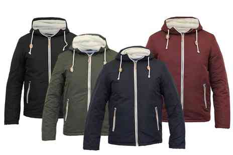 Groupon Goods Global GmbH - Mens Brave Soul Sherpa Fleece Hooded Jacket in Choice of Colour - Save 0%