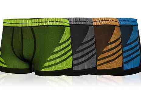 Groupon Goods Global GmbH - Two, Four or Six Pairs of Mens Freenord Coloured Sports Boxers - Save 60%