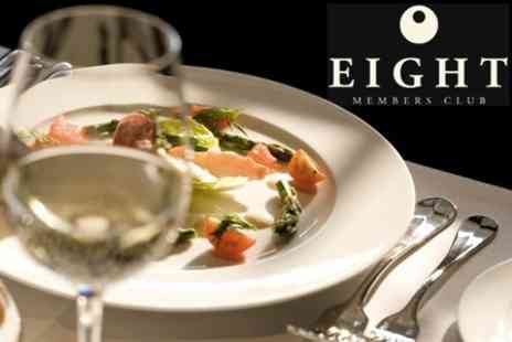 Eight Club Moorgate - Two Course Meal For Two Including Prosecco - Save 60%