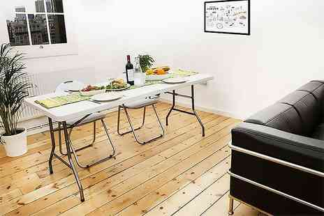 Who Needs Shops - Six foot folding trestle table - Save 73%