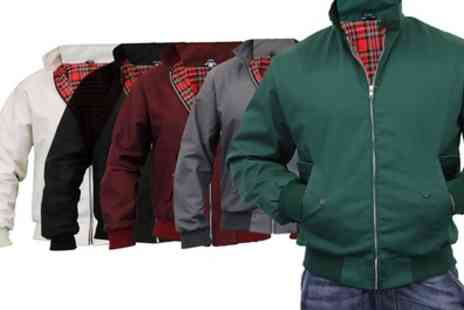 Groupon Goods Global GmbH - Mens Tartan Lined Harrington Jacket in Colour of Choice - Save 0%