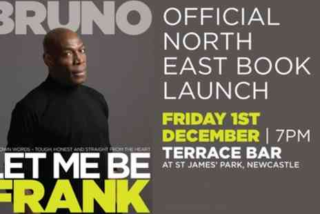 Frank Bruno - One general admission, VIP or VVIP ticket to Frank Bruno Let Me Be Frank on 1 December - Save 78%
