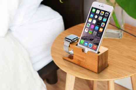 Groupon Goods Global GmbH - Wooden Dock Station for Apple Watch and iPhone - Save 53%