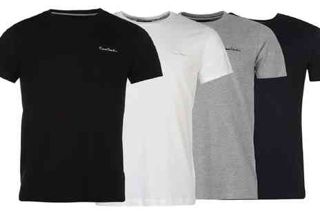 Groupon Goods Global GmbH - One or Two Pierre Cardin Plain T Shirts - Save 0%